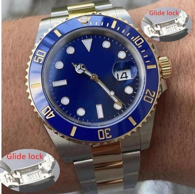 Glide Lock Erkek Otomatik Mekanik İzle Erkekler Saatler 40mm Paslanmaz Çelik Safir Saatı Süper Aydınlık Moda Casual Saatler Montre de Luxe