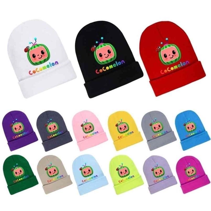 Cocomelon Autumn Winter Knitted Hat Toddler Kids Beanies Woolen Hat Soft Cute Baby Boys Girls Cartoon Printed Crochet Skull Caps G498XRO