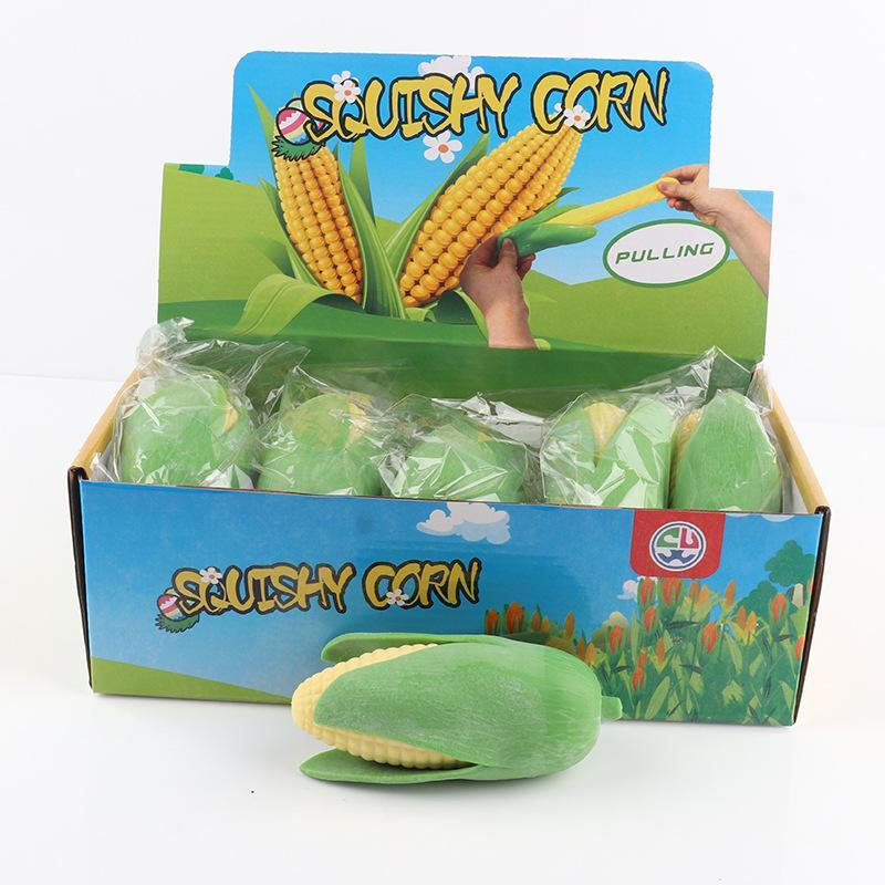 Pelado exótico de maíz Simulación Squishy Simulación Juguete creativo Lala Le Venting Fruit Pellying Tricky Para aliviar el aburrimiento gracioso