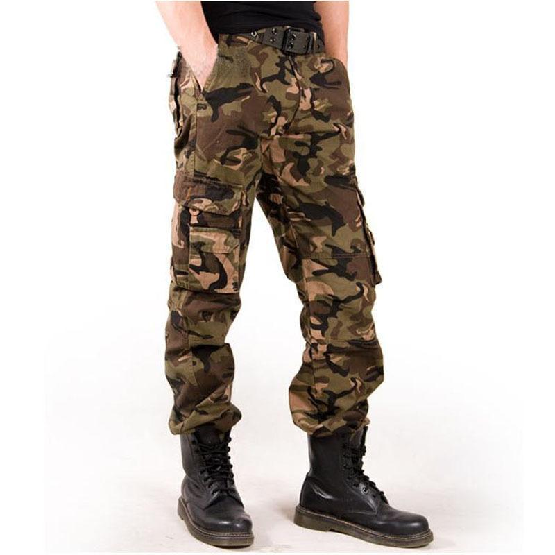화물 바지 망 고딕 다중 포켓 군사 바지 야외 조깅 팬츠 패션 하라주쿠 남성