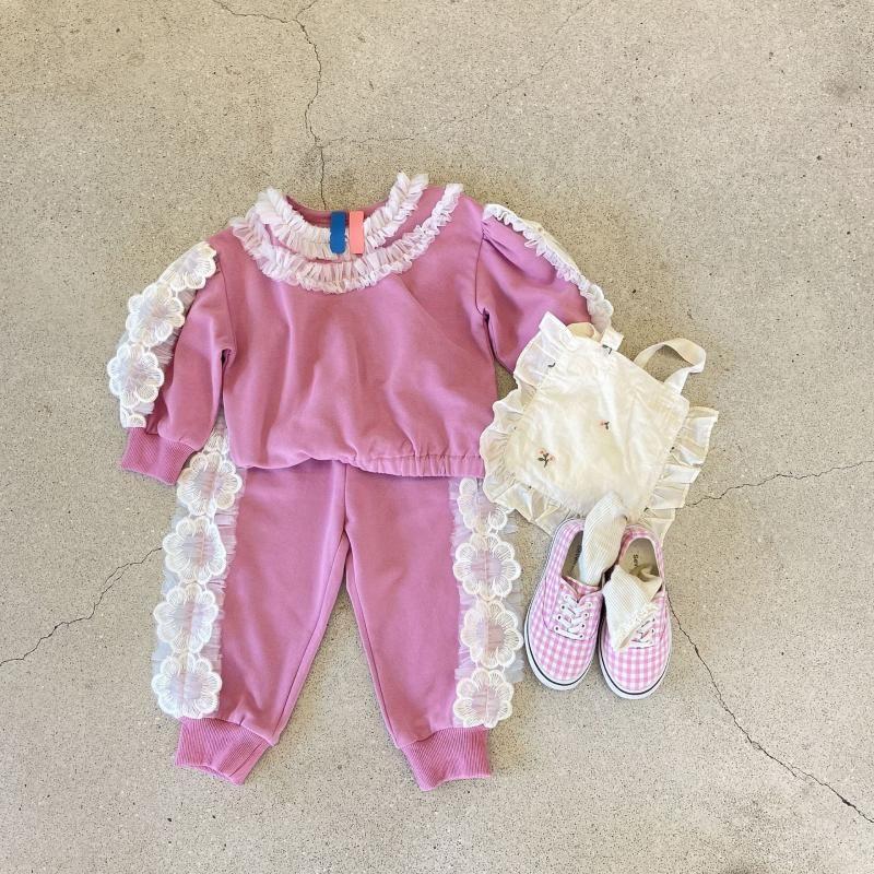 Conjuntos de ropa 2021 Girls 2 PCS Set Ruffles Sudadera + Pantalones Otoño Moda Traje Ropa para niños 1-7 años