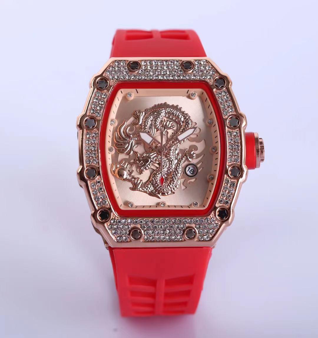 2021 Moda De Lazer Set Auger Esportes Relógios Para Homens e Mulheres Lazer Moda Digitalização Tick Quartz Watch6