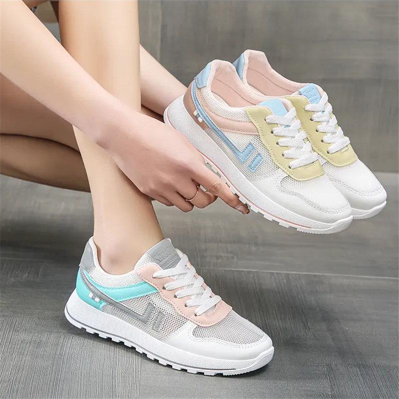 Sommer Mesh Niedrig Top Atmungsaktive Frauen Schuhe Flache Untere Weiße Schuhe Mode Lässig Frauen Schuhe Größe 35-40