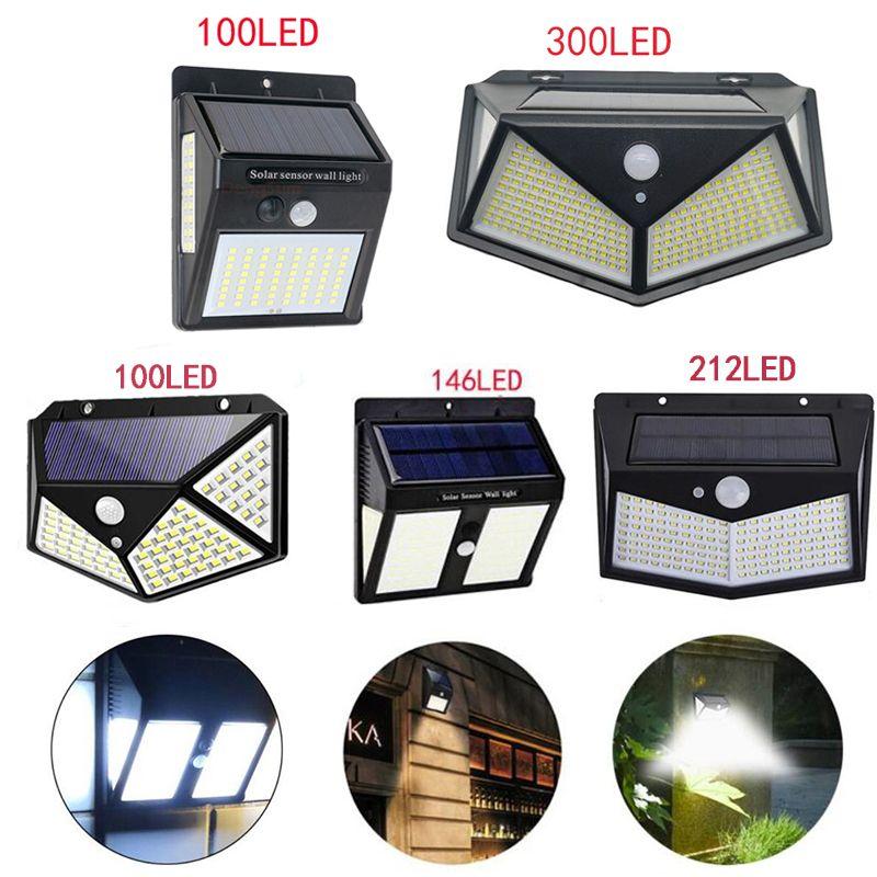 태양 조명 LED 정원 pir 모션 센서 보안 벽 램프 방수 IP65 거리 통로를위한 야외 조명
