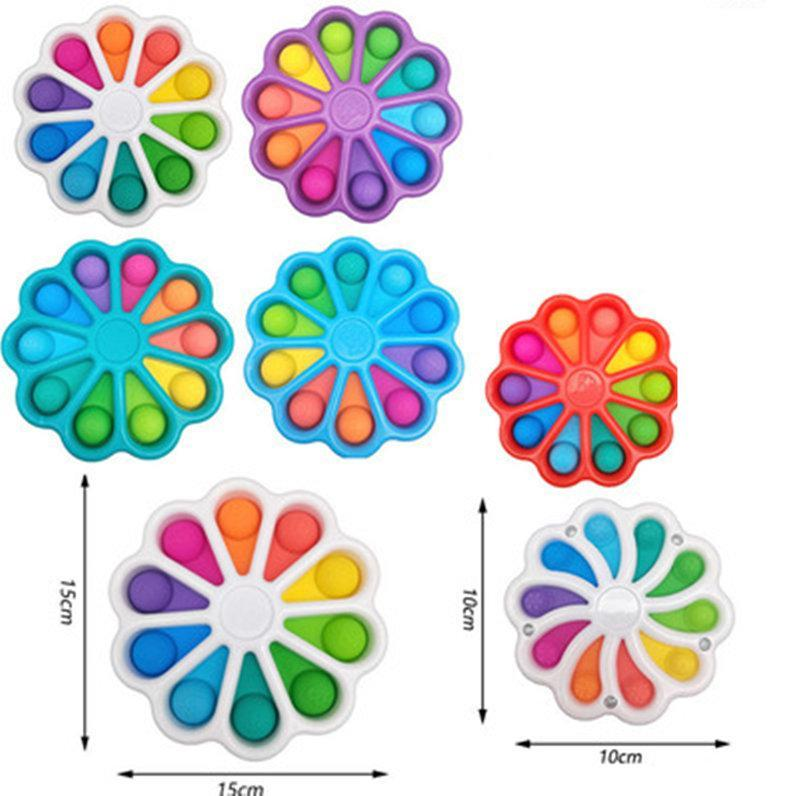 Fidget Brinquedos Bolha de Dedo Press Reliet Fingertip Toy Stress Educacional Criativo Crianças Bebê Presente Sensor 2021 New DHL Shipping