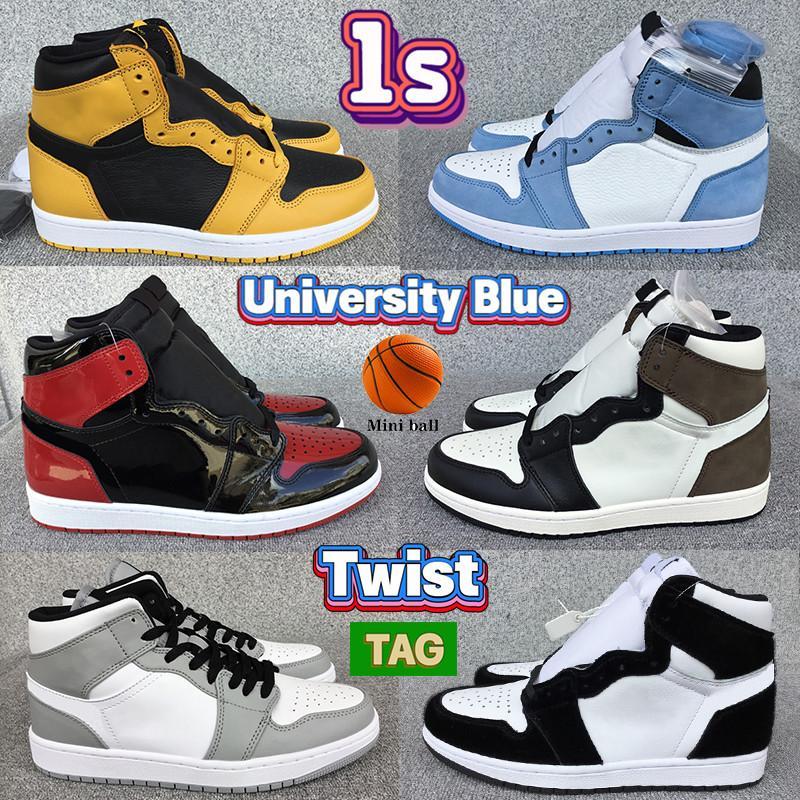 Nouvelle Université militaire Cactus Bleu 1 1S Basketball Chaussures Unc Hyper Royal brevet élevé Bred Mocha Pollen Hommes Femmes Sneakers Formateurs