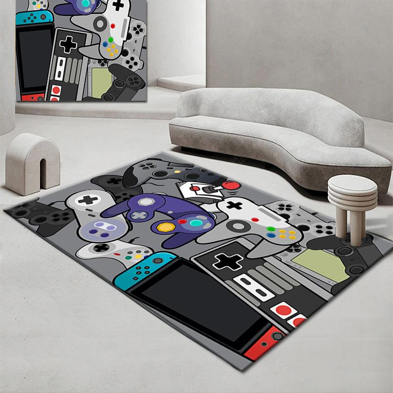 Cartoon Kid Carpets Non-Slip Carpet for Living Room Study Mat Absorbent Washable Area Rugs 120x160cm Bedroom Decor
