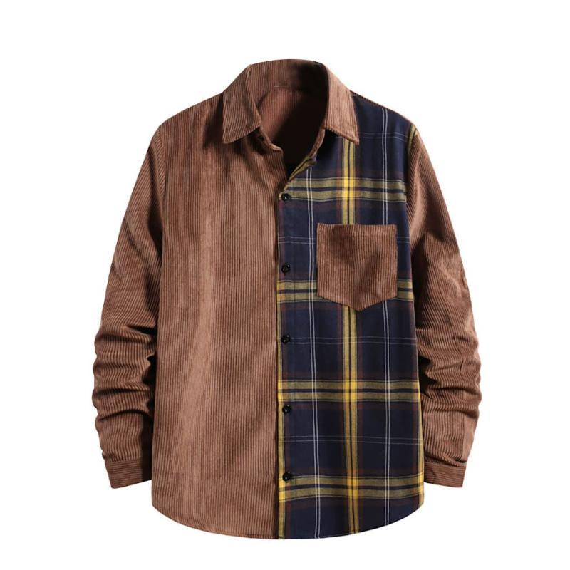 Hombres camisas 2021 Primavera y otoño Moda Marca Japón Estilo Vintage Slim Fit CAMISETA CAMISETA CASOS MASCUALES HOMBRES