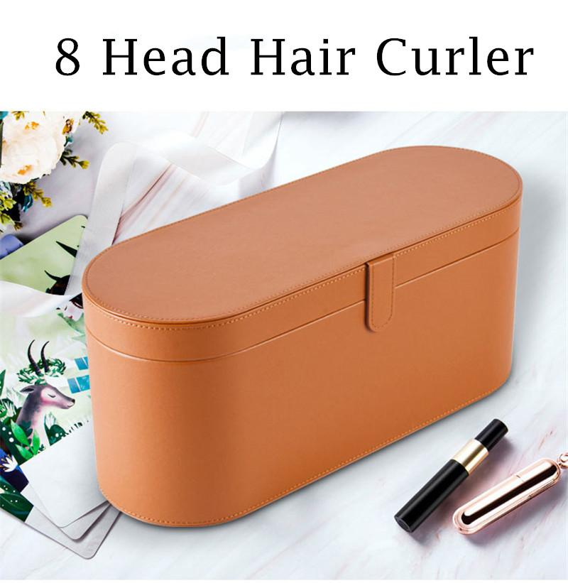 2 Set HS01 8 Heads Top Quality Multi Function Hair Curler Professional Salon Dryer Tools EU/US/UK/AU Version Curling Iron for Normal Hairs with Gift Box