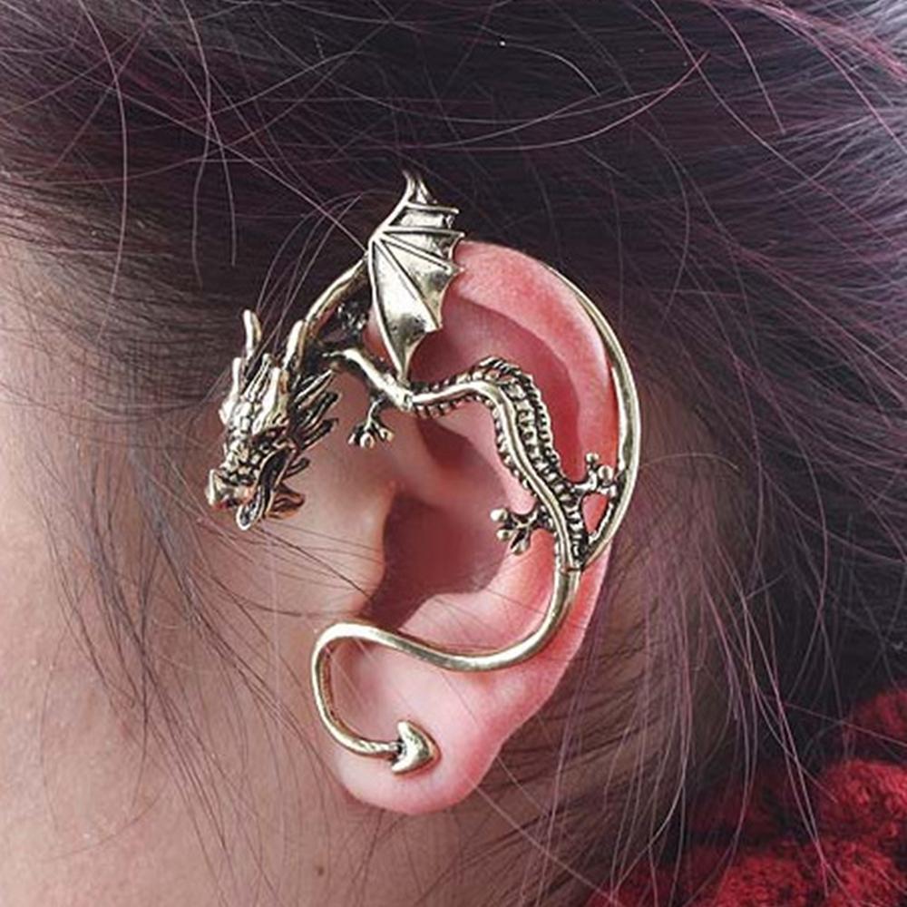 10pair Dragon Stud Ear Clip Vintage Punk Sieraden Accessoires Oorbellen Voor Mannen Vrouwen op Oreille Femme de Fiesta