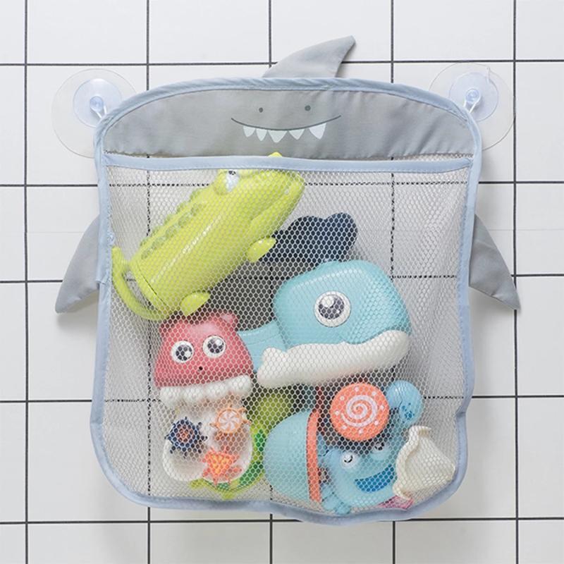 أكياس تخزين الحمام شبكة حقيبة لحمام اللعب أطفال سلة الكرتون الحيوان الأشكال القماش الرمال صافي