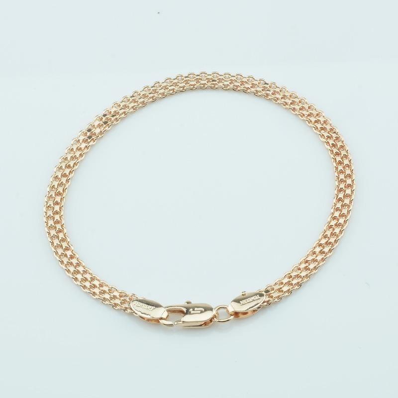 1 adet 4mm 19 cm Erkek Kadın 585 Altın Renk Çok Dokuma Bilezikler Takı Moda Zincirleri Bağlantı, Zincir