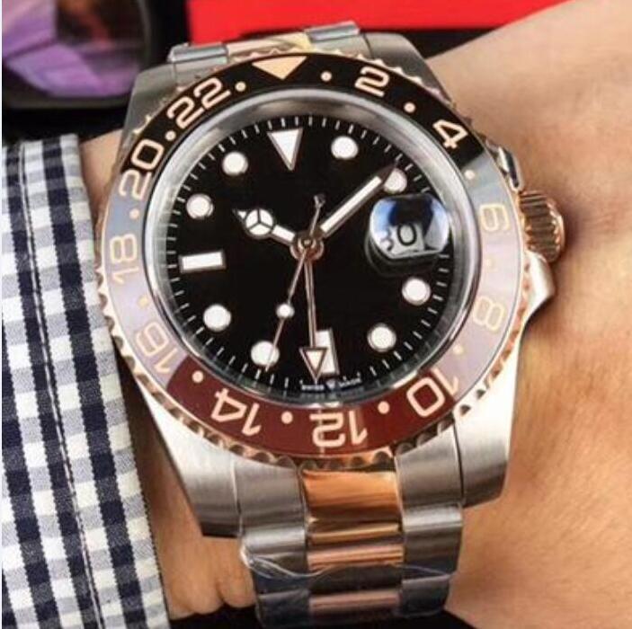Lotus_flower Herren Super BP Fabrikuhr V2 ETA 40mm GMT Batman Keramik 18 Karat Gold Cal.2813 Bewegung Automatische Uhren R45