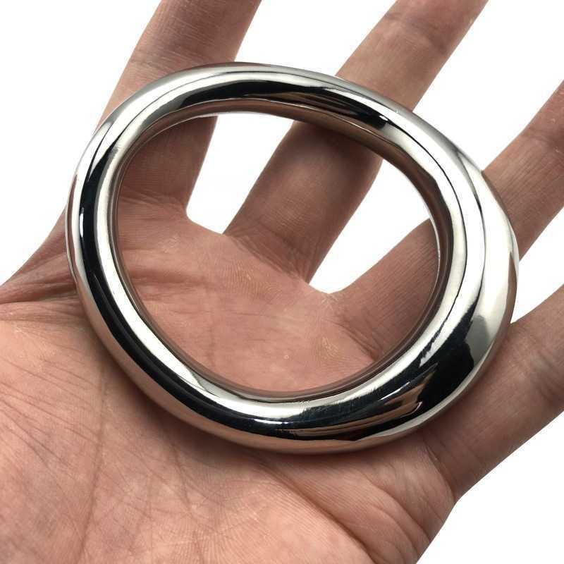 Edelstahl Metall Cock Ring Scrotum Penis Gewicht Sex Spielzeug Für Männer Dick Ring Penis Ring BDSM Mens Cockrings Erwachsene Spielzeug. 210720.
