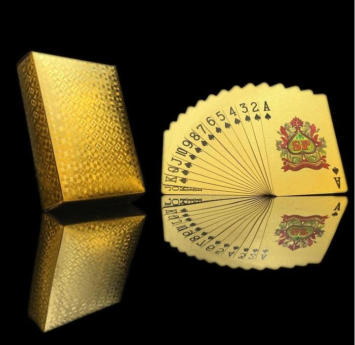Dhl بوكر بطاقة احباط الذهب مطلي اللعب أوراق اللعب البلاستيك ماء جودة عالية محلية الحيوانات الأليفة / pvc