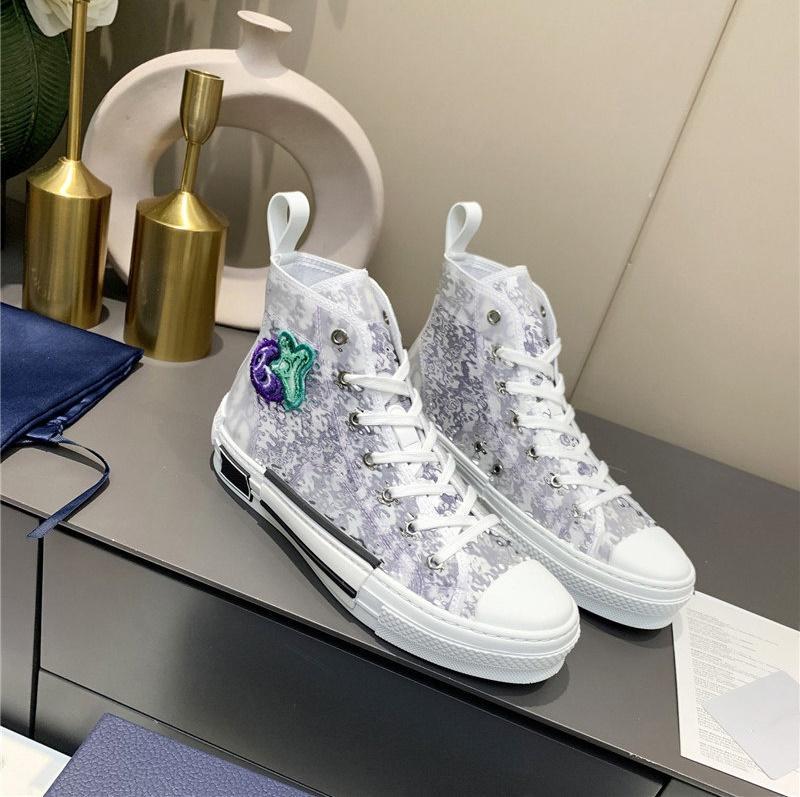 Дизайнеры кроссовки B23 обуви наклонные мотивы линии высокий низкий верхний мужской кроссовки Технический холст кожаные женщины повседневная обувь пчелы хорошее качество роскоши тренеров # 2021 # 2021 # 2021 # 2021 # 2021 # 2021 # 2021 # 2021 # 2021 # 2021 # 2021 # 2021 # 2021
