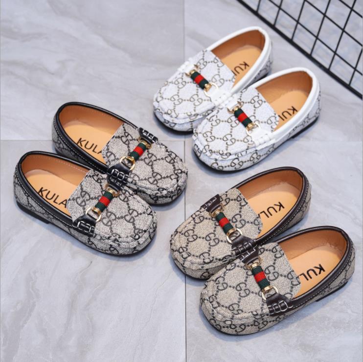 Kids Shoes кроссовки для весенних детей мальчики повседневные кожаные ботинки из Горох обувь для малышей мягкая нижняя обувь удобный размер 21-30