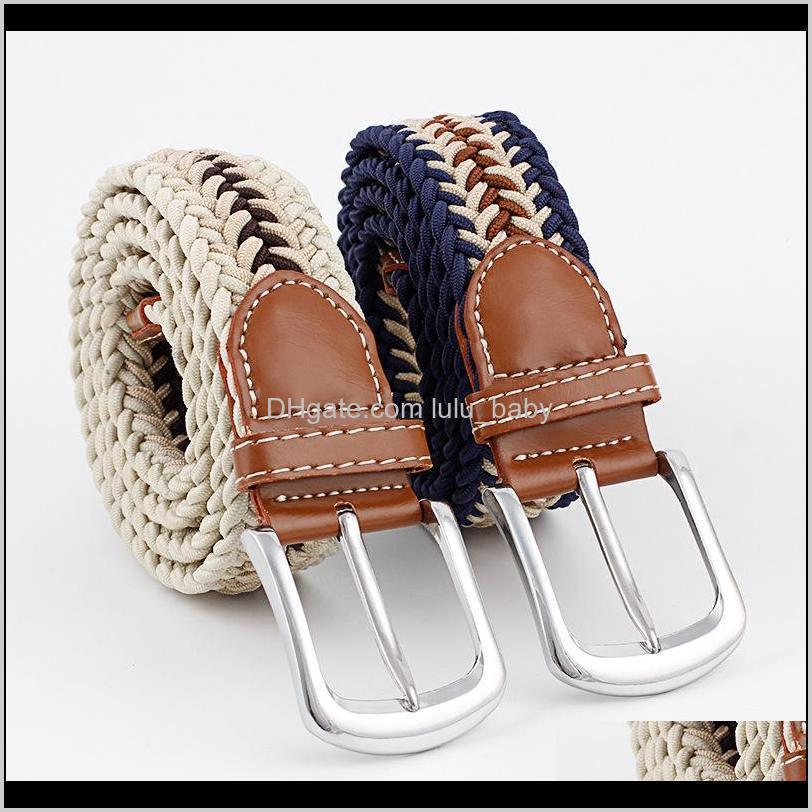 Cinturones para mujer para mujer Wovon Metal Drindud Buckle Cinturón Elástico S546 W3QAT CGOCL