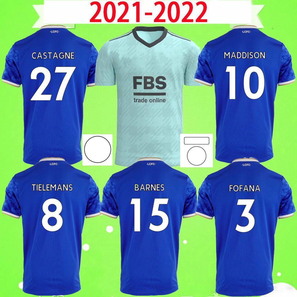 Giocatore fan Versione 21 22 Leicester Soccer Jerseys 2021 2022 Città Vardy Maddison Tielemans Barnes Ndidi Fofana Camiseta de fútbol uomo Kit Maillot Camicie da calcio Maillot