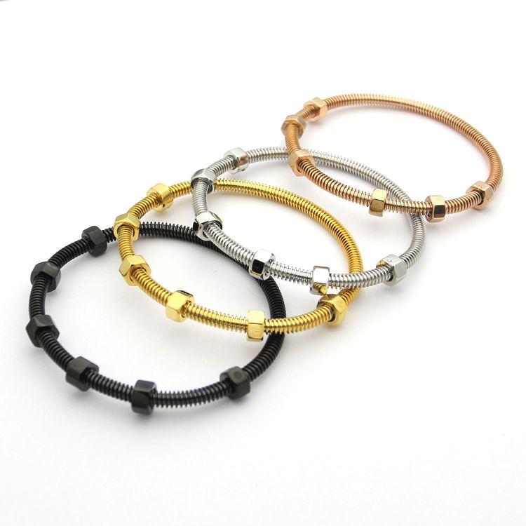 Высококачественные мужские женские моды браслет с винтом из нержавеющей стали No Fade подарок браслеты браслетов с коробкой