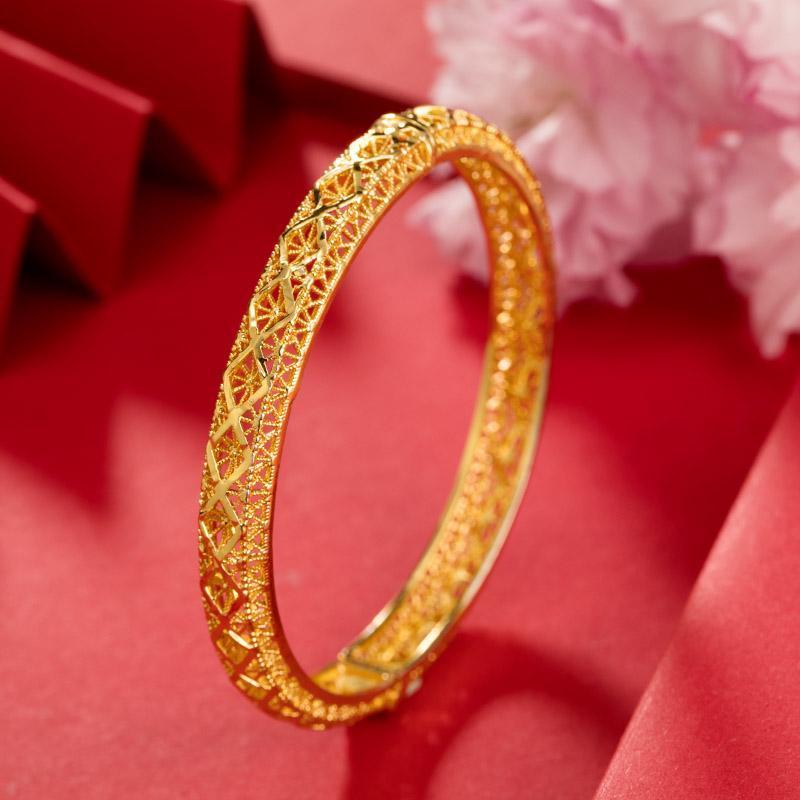 1 pz 6cm Bangles color oro per le donne / ragazze può aprire il Medio Oriente Arabia Saudita Dubai Gioielli Bracciale Bracciale Braccialetto Bracciale