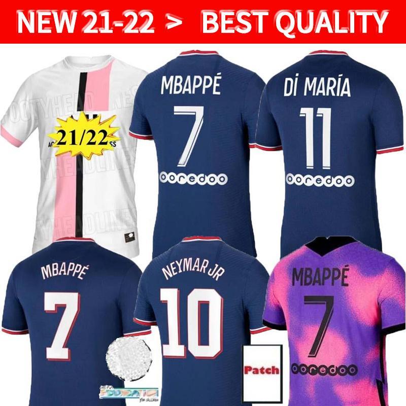 MBAPE Verratti Kean Fussball Jersey 2021 2022 Spielerversion di Maria Kimpembe Marquinhos Icardi Pre-Match Football Hemd 20 21 22 Herren + Kids Kit