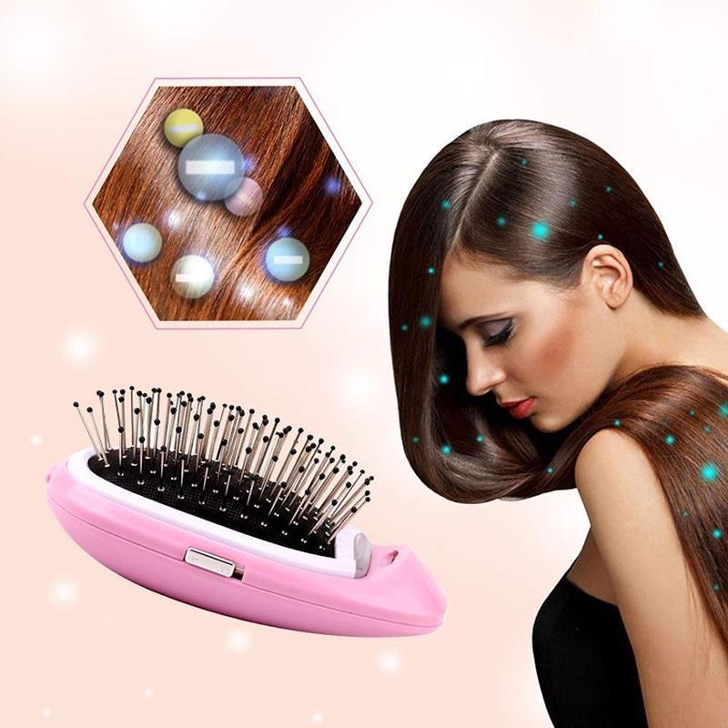 فرش الشعر الكهربائية المحمولة الأيونية الأيونات الأيونات السالبة مشط فرشاة النمذجة التصميم