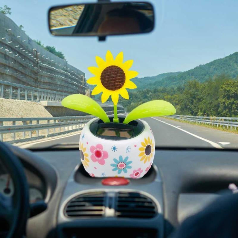 Interieur Dekorationen Auto Dashboard Solarbetriebene Tanzblume Swinging Animierte Bobble Tänzerin Spielzeug Ornament Auto Decor Kinder Spielzeug Geschenk