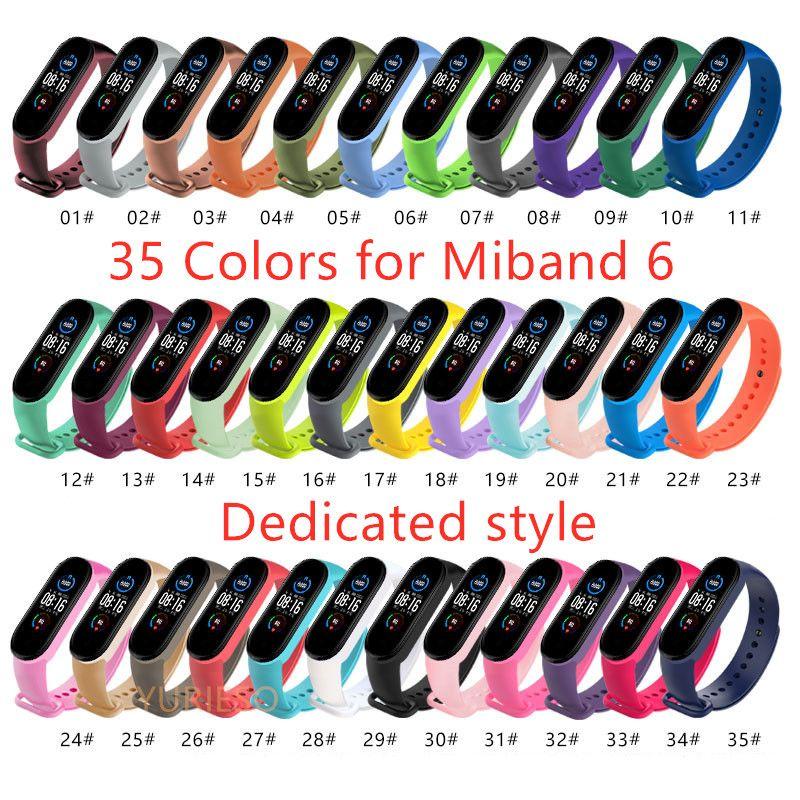 مخصصة watchband ل xiaomi miband 6 لينة سيليكون الفرقة المعصم ل xiaomi miband 6 سوار استبدال حزام ملون ل mi band6 strap