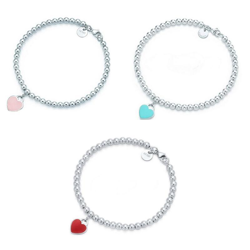 Süße Perlenstränge Armband Frauen Mädchen Herz Perlen Armbänder Für Geschenk Party Modeschmuck Zubehör 3 Farben