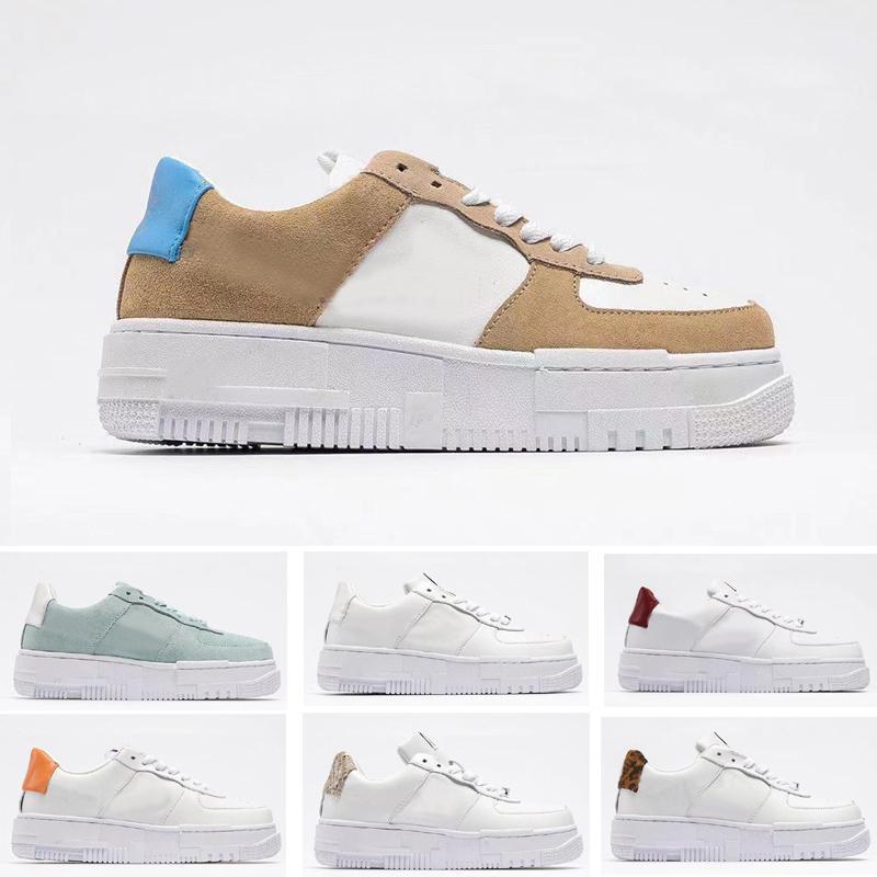 Pixel Skate Shoes para hombres Mujeres Partículas Beige Blanco Sport Skateboarding EE. UU. Tamaño5.5-11