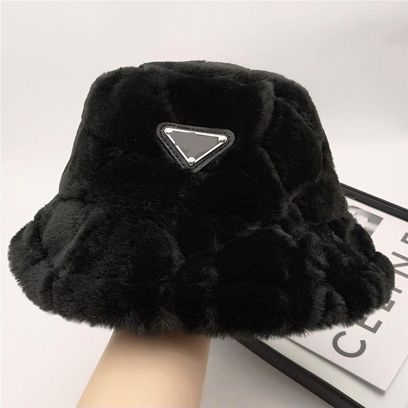 دلو القطيفة قبعة بيني مصمم الرجال النساء في كاب في الخريف الشتاء قبعة casquettes صياد دلاء القبعات الأزياء جودة عالية 6 ألوان