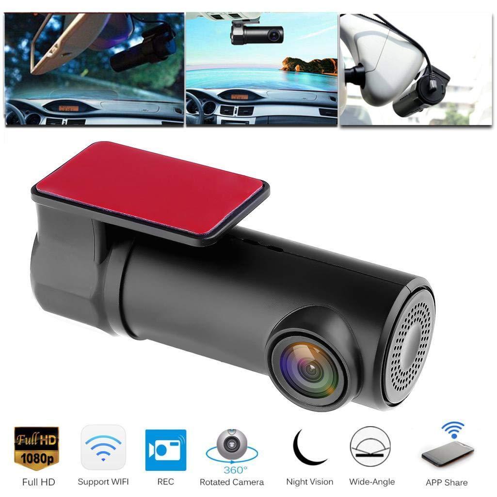 1080p WiFi Mini Coche DVR Dash Cámara Noche Visión Videocámara Conducción Video Recorder Dash Cam Camera trasera Registrador digital