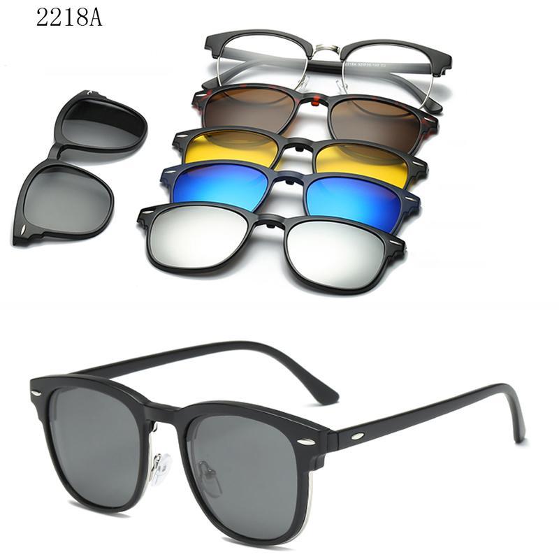 Magnet gespiegelte Sonnenbrille Clip auf Gläsern Männer Polarisierte benutzerdefinierte Rezept-Myopie