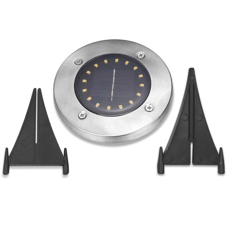 4 pcs LED Lâmpada de gramado solar 4 8 12 16LED energia solar lâmpada subterrânea luz lâmpada ao ar livre caminho jardim decking rua luz