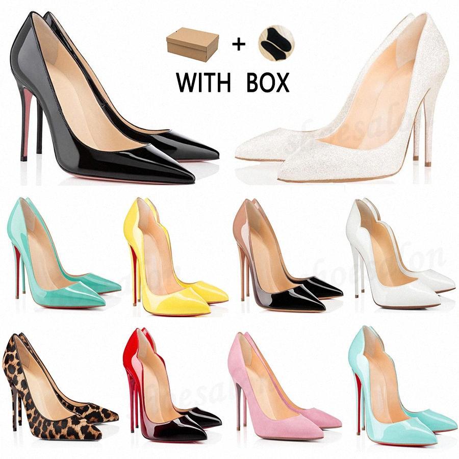 2021 mulheres fundo vermelho vestido sapatos saltos altos saco de poeira redondo pontas pontas dedos fundos Spikes vintage cravejado luxurys designers sneakers # 898