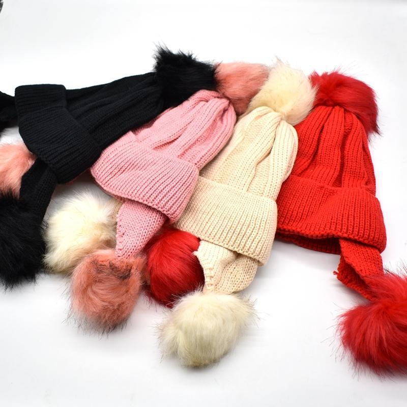 겨울 모자와 아이들을위한 아이들은 아이들이 어린이 빛나는 고양이 귀마개 모자 모자