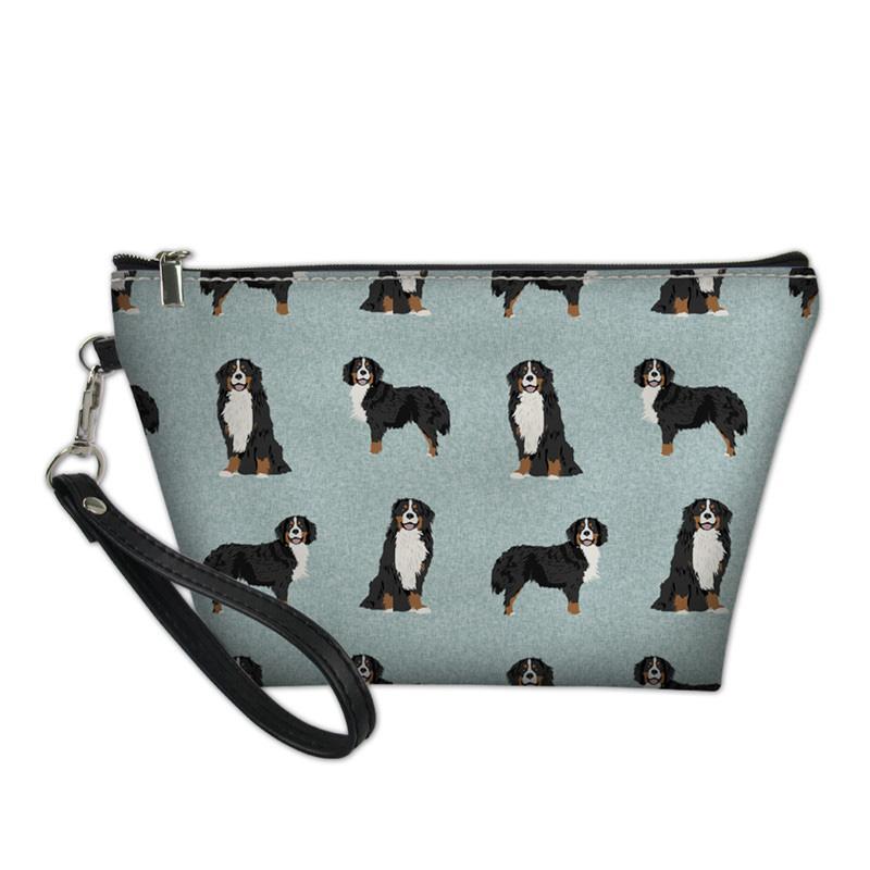 Berner Berghund Haustierdrucken Make up Tasche für Frauen Reisen Kosmetik Organizer Notwendige Taschen Tragbare Taschen Koffer