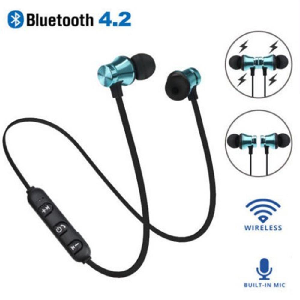 XT11 Bluetooth Headphones Magnetic Wireless Running Sport Earphones Headset BT 4.2 with Mic MP3 Earbud For iPhone LG Smartphones 4 Colors