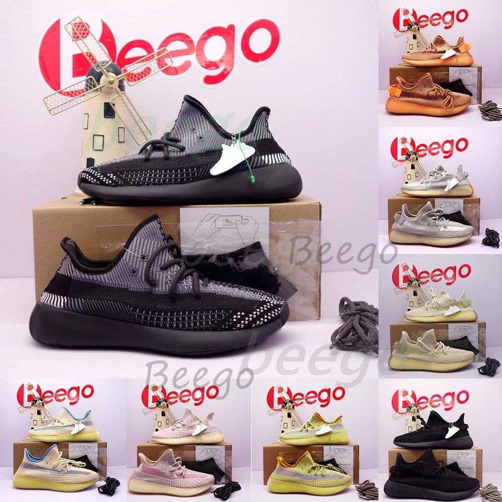 Top Qualité Kanye V2 Femme Mens de course Chaussures de course Zebra Flax Antlia Bred Beluga Yecheil ManOuestSneakers de sport chaussure 35-47 # 2021 #