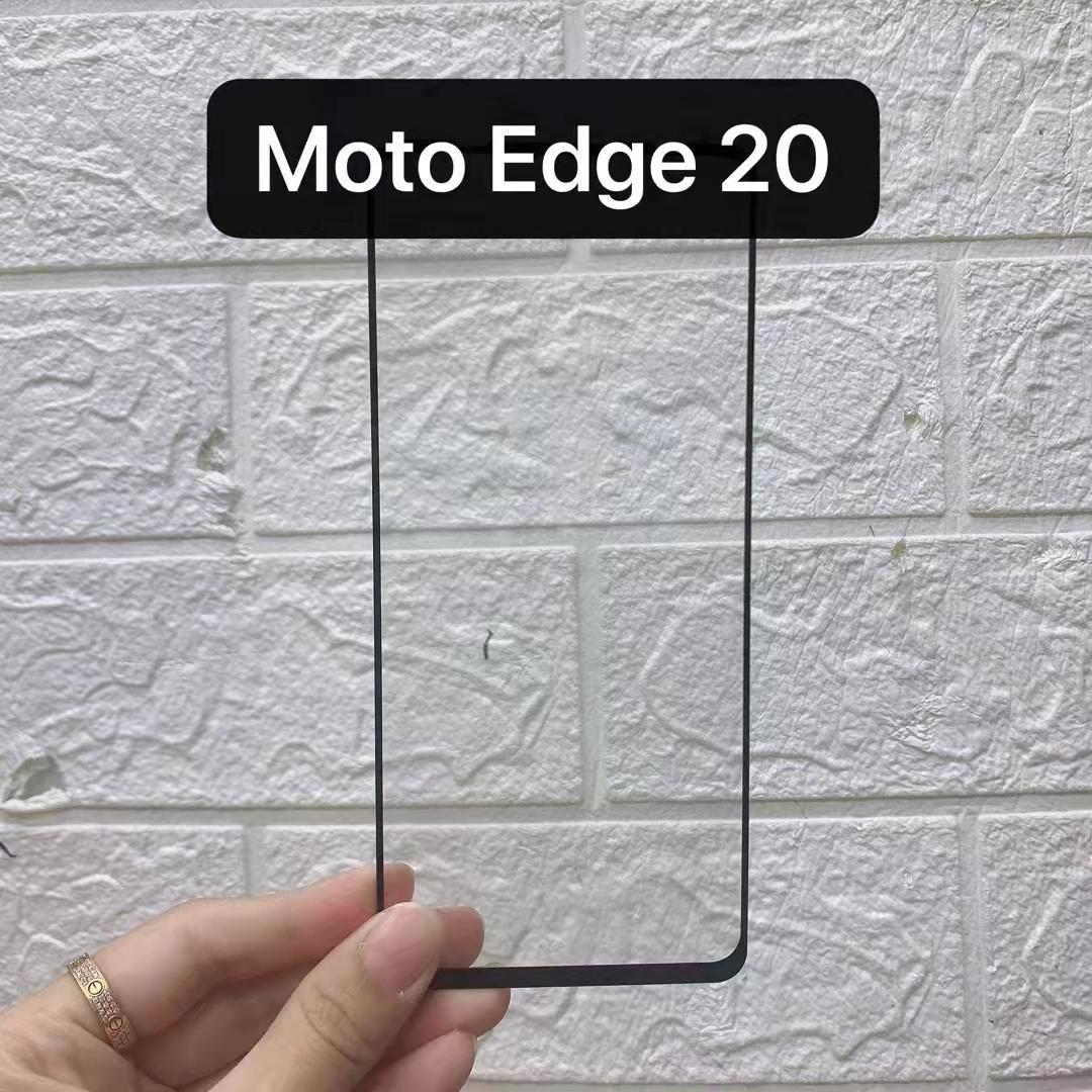 Plein couverture Trempé Glass Screen Protector Silk imprimé pour Motorola Moto Edge 2021 G50 G60 G60S G30 Power 200pcs / Lot