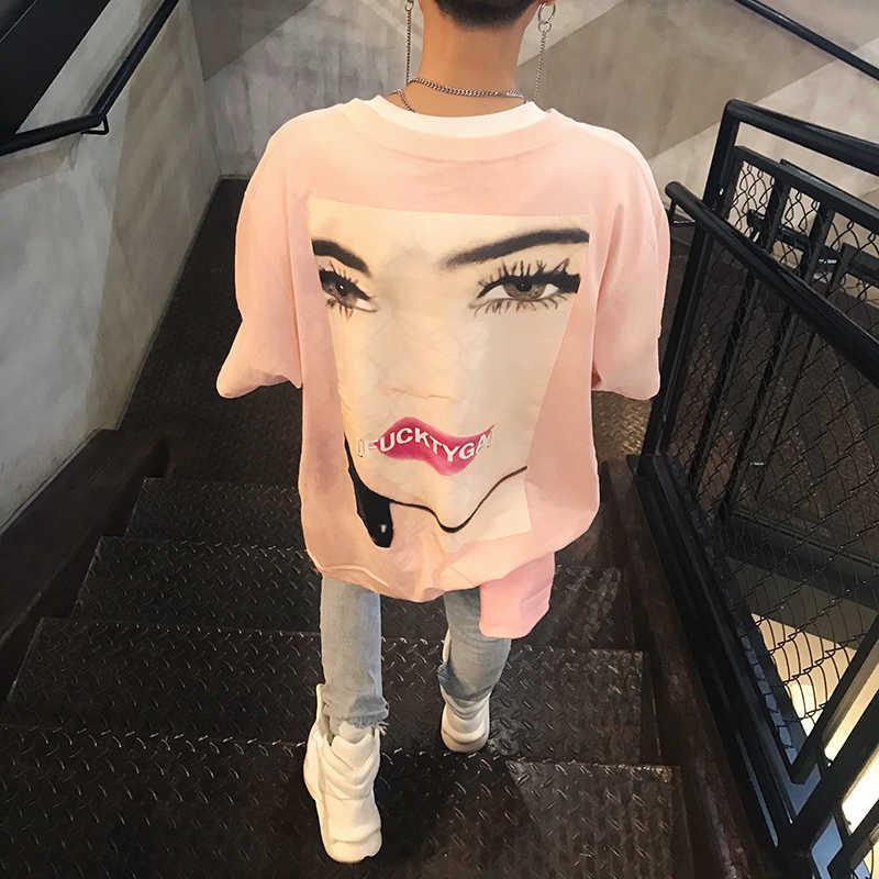 Yifan's New Yang Summer High Street Mode Marke Ins Super Hot Hip Hop Pate Lose Casual Kurzarm T-Shirt für Männer