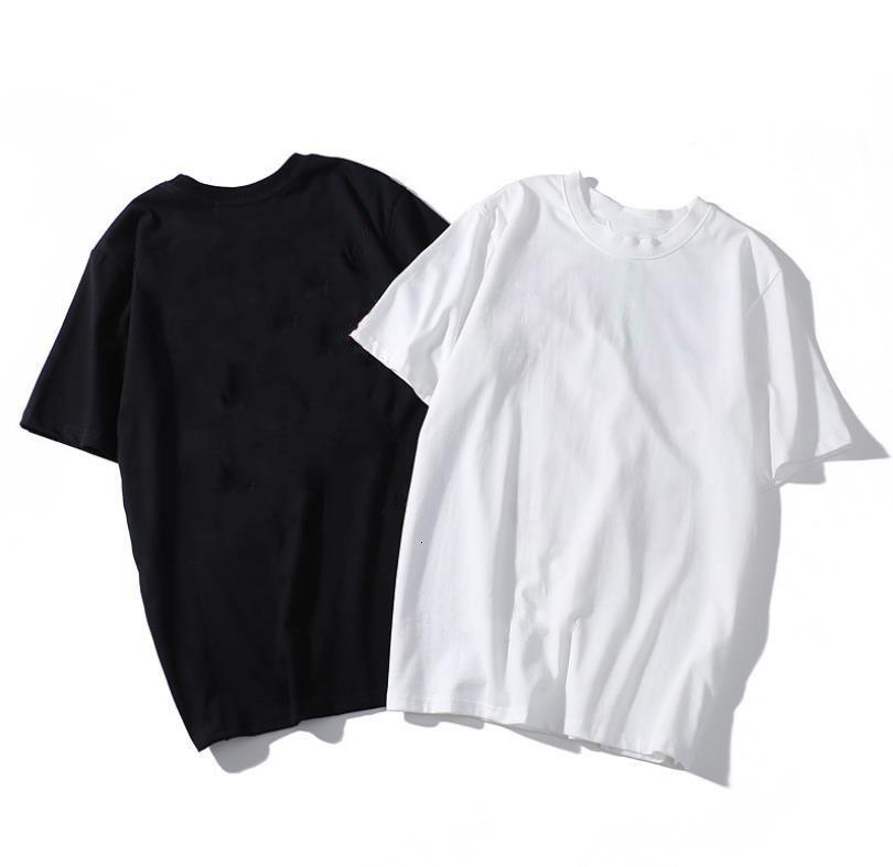 Herren T-Shirt Sommer Flut Marke Atmungsaktive Männer T-Stück-Mode-Paar-Tragen-Muster-Druck kurzärmeliges T-Shirt