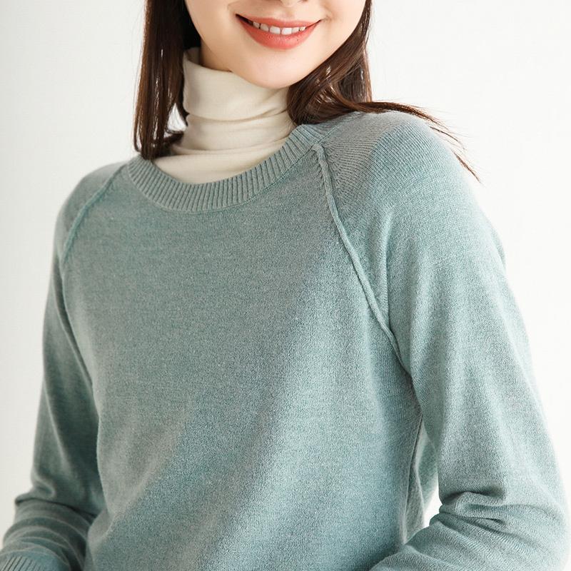 Frauenpullover Frau Pullover Pullover Pullover Oansatz Kurze Freizeit Damen Pullover Mode Tops gestrickt Kaschmir