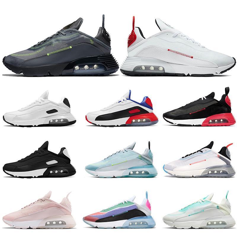 2021 Nike Air Max airmax 2090 MESUNs Womens Laufschuhe Runner Triple Black White Neon Pinselstroke Seien Sie wahre Laser Blue Aurora Green Trainer Sport Sneakers