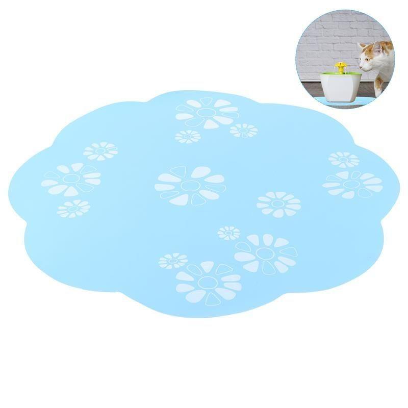 Kennels Stifte 34 cm Wasser Brunnen Matte Blume Silikon Entzückende Multifunktionale Platz Mahlzeit Pad Trinken Für Haustier Katze Hund Hunde