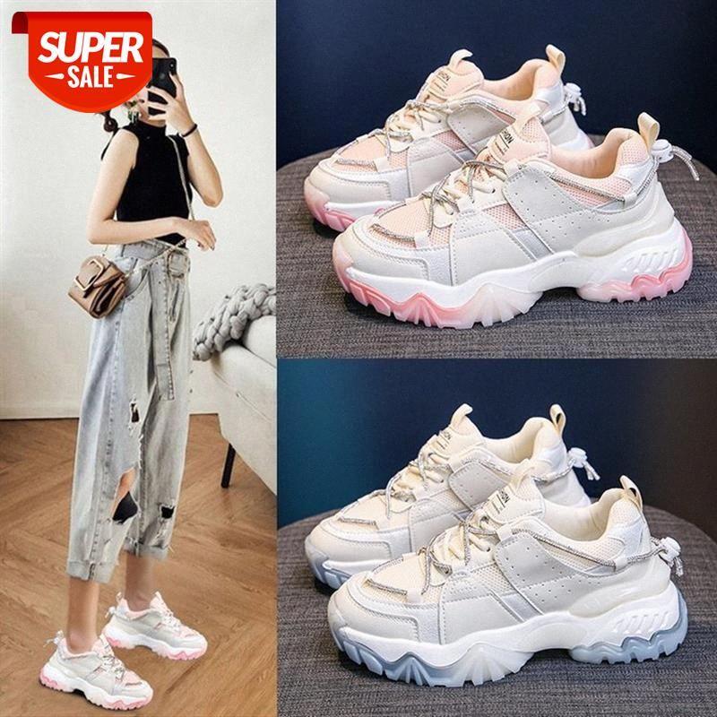 Tide Brand Spring Donne Donne Coreano Fashion Personalità Scarpe sportive casual con suolo spesso # PN3U