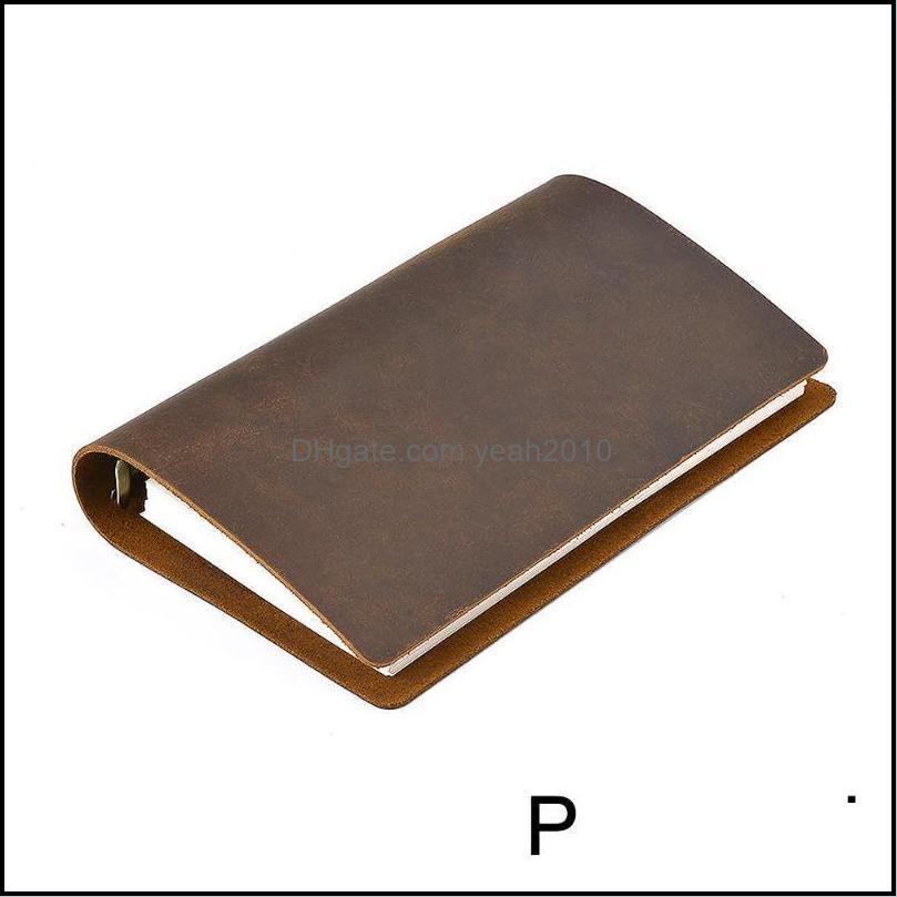 Notas Blocos de Notas Suprimentos Escola de Escritório IndustrialNotepads Classic Negócios Notebook Pessoal Genuine Leather Er Loose Folha Diário Diário Jou