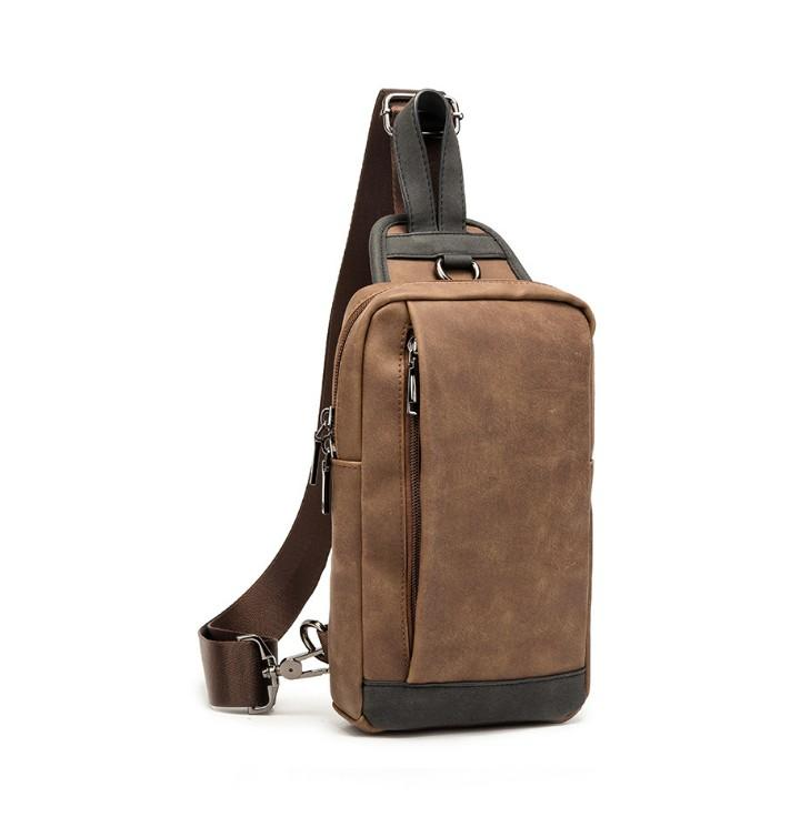 Mens designer PU Leather Shoulder Bags Women Backpack Function Travel Storage Male Sling luxurys Waist Bag Documents Storgage Chest Pack