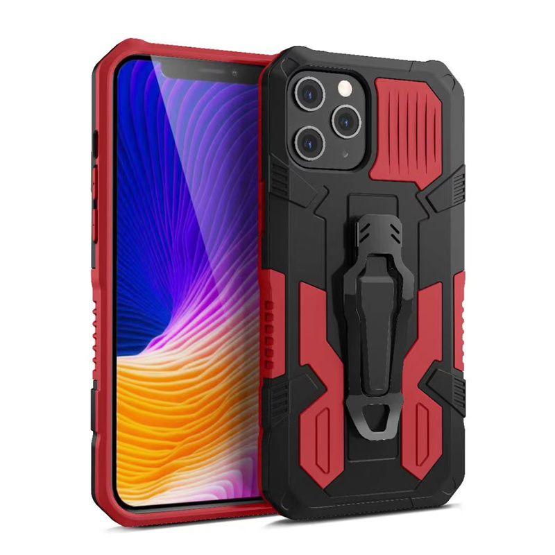 100% Authentic Mech Warrior Phone Cases TPU + PC + Metallo 3 in 1 Copertura custodia per telefoni cellulari per iPhone 12 Mini 11 Pro Max X XS XR 7 8 6S PLUS SE2020 SAMSUNG S21 S21ULTRA